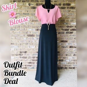 Dresses & Skirts - SHOP THIS LOOK | SKIRT & BLOUSE OUTFIT BUNDLE DEAL